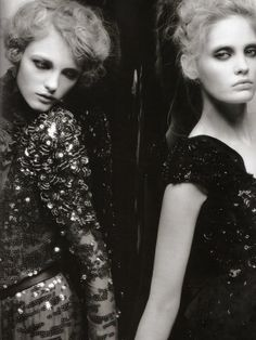 """""""La Couture"""" by Karl Lagerfeld for Numéro September 2008"""