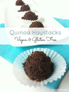 #Vegan #glutenfree Chocolate Quinoa Haystacks http://www.damyhealth.com/2012/10/quinoa-haystacks-vegan-gluten-free/