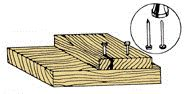 Dull the tips of nails to keep boards from splitting | Avoid Wood Splitting When Nailing #tip
