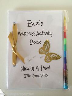Personalised Childrens Wedding Activity Book Favour Gift Party Bag Pack | eBay