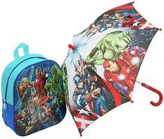 Avengers Backpack and Umbrella Set Kids Umbrellas, Avengers, Backpacks, Superhero, Style, Swag, The Avengers, Backpack, Backpacker