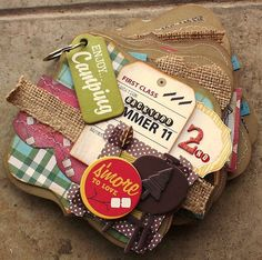 Campy album for guest dt spot at www.shabbychiccrafts.com. By marie ramirez. #camping #minialbum