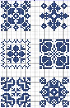 Cross-stitch Blue tiles, part 5 Biscornu Cross Stitch, Cross Stitch Charts, Cross Stitch Designs, Cross Stitch Embroidery, Cross Stitch Patterns, Crochet Chart, Filet Crochet, Crochet Cross, Knitting Charts