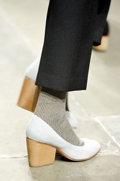 socks with heels.