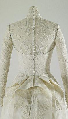 Thebackof the Duchess of Cambridge's Alexander McQueen wedding gown