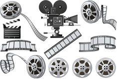 Кинематограф и кинопленка в векторе | Cinema vector