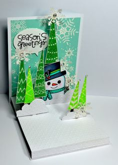 A Pop n cut Card made with Hero Arts Stamps and a Paper Smooches Greeting.