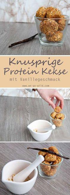 Tolle Protein Rezepte gesucht? Unser Protein Kekse Rezept mit Vanillegeschmack schmeckt so lecker. Dass diese Kekse gesund sind, ist ja auch klar. Sie sind nämlich sogar zuckerfrei.