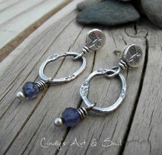 Artisan Crafted Silver Earrings Sterling Gemstone Jewelry