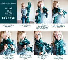 Crazy 8 scarf tying