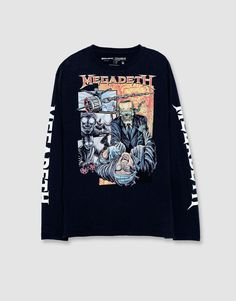 Camiseta manga larga Megadeth - Camisetas - Ropa - Hombre - PULL&BEAR México