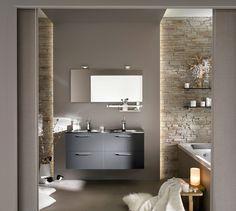 Gallery of idee salle de bain design bains moderne en ides super inspiran. Glass Facades, Bath And Beyond Coupon, Grey Glass, Small Bathroom, Modern Bathroom, Bathrooms, Stone Bathroom, Cool Furniture, Interior Architecture