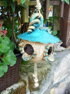 Clay Art Projects, Ceramics Projects, Clay Crafts, Pottery Bowls, Pottery Art, Chicken Crafts, Kawaii Diy, Clay Fairies, Ceramic Birds