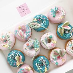 "Stunning donuts from Nectar & Stone's IG - caroline khoo | nectar & stone (@nectarandstone) on Instagram: ""Botanical donuts - see previous post on my piping with royal icing """