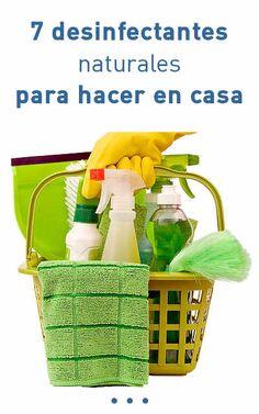 7 desinfectantes naturales para hacer en casa #desinfectantes #naturales #efectivos #DIY