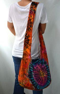 Boho Cross Body Bags | Tie Dyed Hippie Hobo Boho Cross Body Bag Messenger Purse S102019