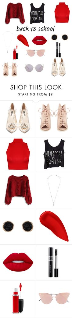 """B2S"" by audjvoss ❤ liked on Polyvore featuring Dolce&Gabbana, Jimmy Choo, WearAll, Chicwish, Alex and Ani, Humble Chic, Lipstick Queen, Lime Crime, Christian Dior and MAC Cosmetics"