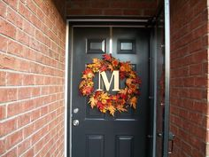 A wreath I made for my front door.