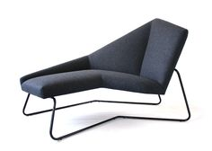New York designer Bradley Ferrada presented an elongated chair with a faceted back atNYCxDESIGN