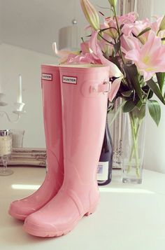 Set of 2 Rain boot Monogram, Hunter boot monogram, boot monogram, rain boot initials, hunter boot st Boho Vintage, Vintage Pink, Pink Love, Pretty In Pink, Pale Pink, Cute Shoes, Me Too Shoes, Everything Pink, Looks Style