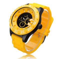 Sale 28% (4.49$) - V6 V0222 Super Speed Big Dial Number Silicone Sport Men Women Watch