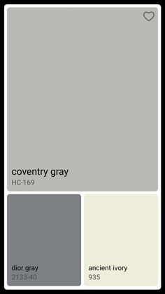 Coventry gray                                                                                                                                                                                 More