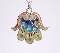 Hamsa / Hand of Fatima necklace (from solisjewelry) #hamsa
