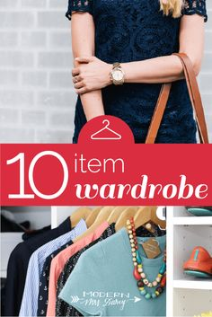 The ten item wardrobe.