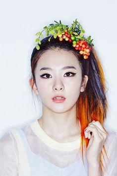 Red Velvet Seulgi Happiness orange ombre hair