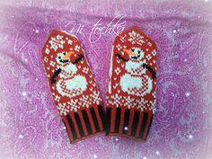 Ravelry: Little Snowman pattern by Natalia Moreva Knitting For Kids, Knitting Projects, Knitting Patterns, Fair Isle Knitting, Knitting Socks, Knitted Gloves, Fingerless Gloves, Knit Crochet, Crochet Hats
