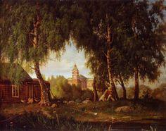"""""""The Jaakkima Church"""" - """"Jaakkiman Kirkko"""" (1864) Magnus von Wright (1805-1868)"""
