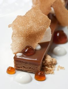 Pastry Chef Lincoln B. Carson from San Francisco, CA - Caramélia Brownie with Whiskey,  Brown Sugar and Caramel  http://www.valrhonaprofessionals.com/caramelia.html