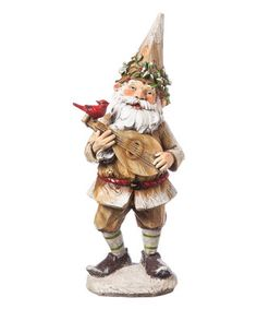 Woodland Gnome Music Maker Figurine