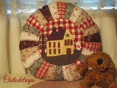 Ositodetrapo: The simple life Anni Downs, Pin Cushions, Pillows, Christian Symbols, House Quilts, Needle Book, Quilted Pillow, All Craft, Love Sewing