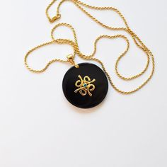Large Black Onyx and Gold Constellation Pendant Multi Color CZ | Deliciously Beautiful Things to Wear and Home Decor.