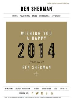 newsletter ben sherman 012014 happy new year ben sherman newsletter design happy