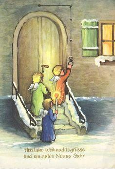 Weihnachten - Lichterengelchen an der Tür, 1965 | eBay