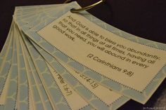 Free Printable Scripture Cards on God's Provision- from {In Pursuit}