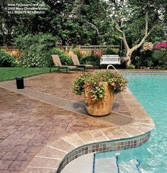 Geometric, Boarder  Concrete Pool Decks  Custom DesignCrete, Inc  Crescent, PA