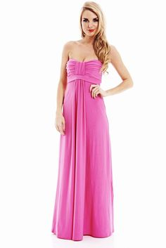 PINK STRAPLESS MAXI DRESS | Shop Trendy Unique Cute Clothes & Accessories | ModMint