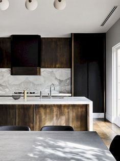 """""""Melbourne Residential Project designed by Flack Studio ~ kitchen interior decoration design inspiration styling photography White Interior Design, Home Interior, Interior Design Kitchen, Marble Interior, Luxury Interior, Küchen Design, Home Design, Design Ideas, Design Projects"""