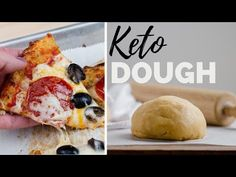 Fat Head crust is one of the top keto recipes for pizza crust out there. This cheesy, low-carb, fat filled crust offers a chewy, bread-like texture, but a crispy underbelly crust.