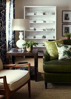 towlston meadow green leather sofa lauren liess. Interior Design Ideas. Home Design Ideas