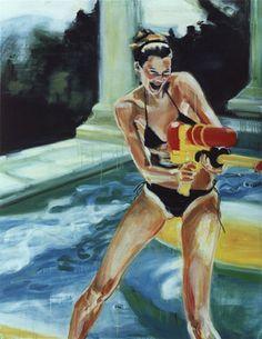 """Saatchi Online Artist Marianna Krueger; Painting, """"Pool"""" #art"""