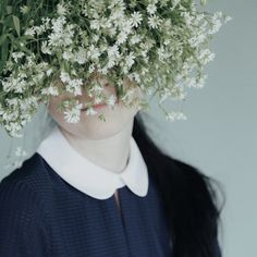 oversized white wildflowers for a flower crown
