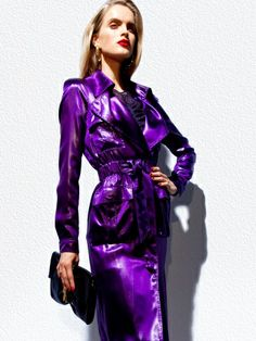 Tom ford's spring 2012 collection from vogue . shiny shiny purple fashion , {found via Tiffany Yannetta for Racked }