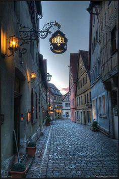 It's getting dark - Rothenburg, Germany