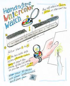 Make a Watercolor Watch with Koosje and her Dad! #artforall #sketchbookskool #drawing