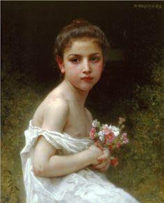 Girlbouquet - William-Adolphe Bouguereau circa 1896