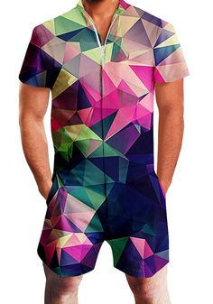 10a35646a5 Men Rompers 3D Funny Graphic Geometric Printed Bro Male Jumpsuit One Piece  Cargo #fashion #clothing #shoes #accessories #mensclothing #pants (ebay  link)